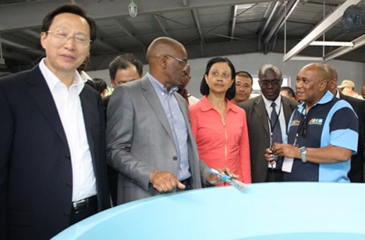 Chinese government open fish hatchery in Gariep